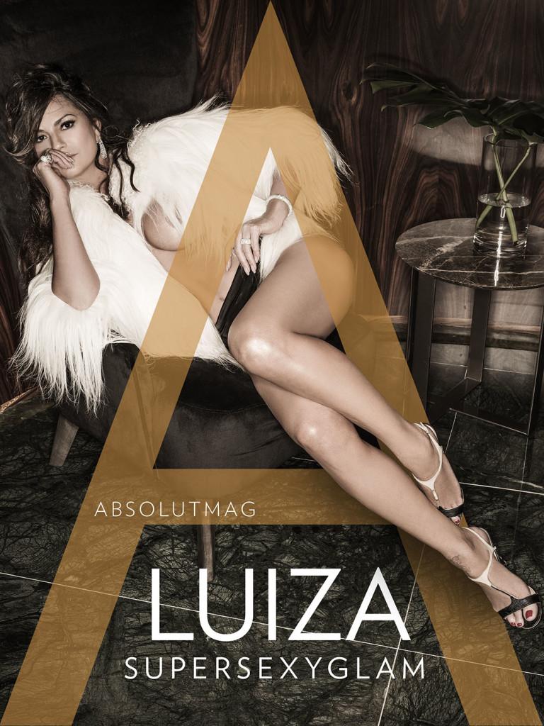 Luiza Brunet em versão sexy glam